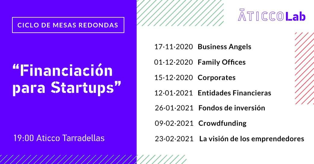 Programa Ciclo Mesas Redondas Financiación para Startups