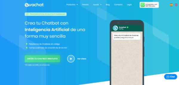 Svachat webpage