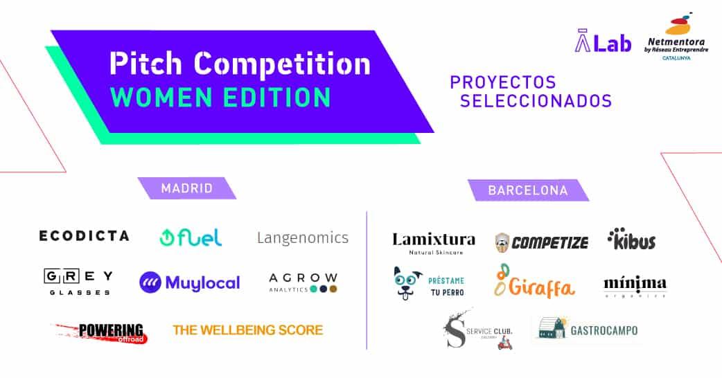 """Presentamos a las finalistas de la """"AticcoLab Pitch Competition – Women Edition"""" with Netmentora Catalunya"""