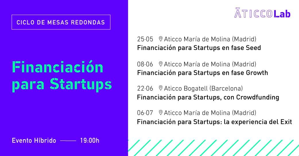 """II Ciclo de Mesas Redondas """"Financiación para Startups"""""""