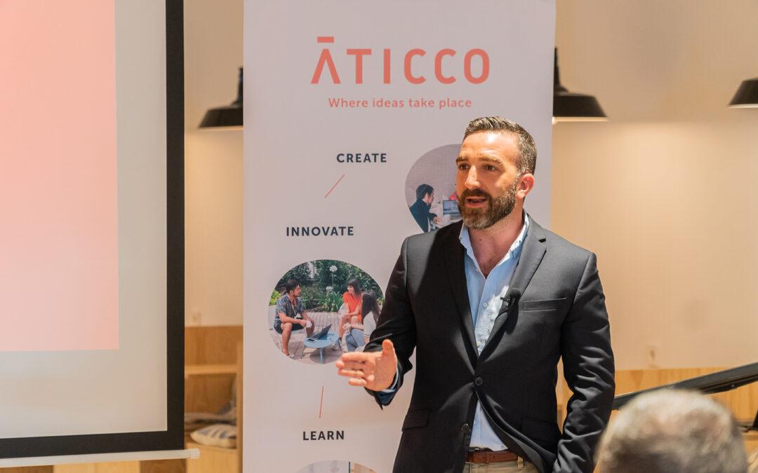 Cena conAlto Comisionado para España Nación Emprendedora y los mentores de AticcoLab